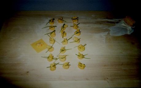 saccottini ripieni alla composta di pere