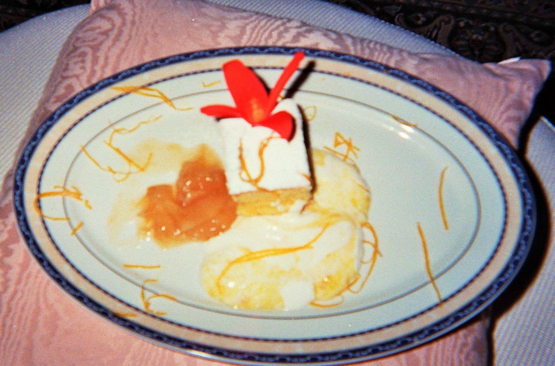 tortina paradiso in crema di banane e arancia