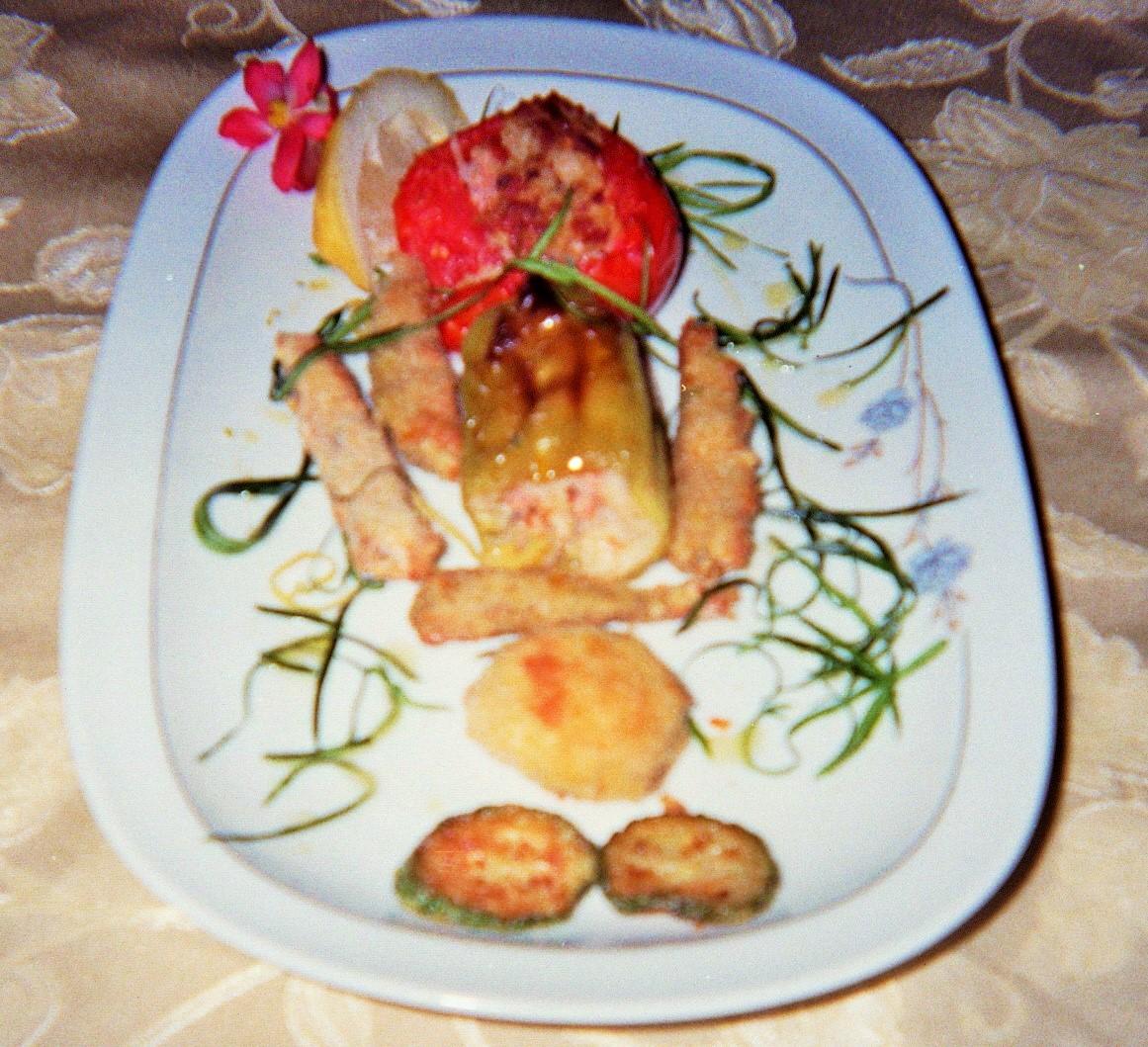 pesce misto in verdure